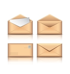 Set of Old envelopes vector image