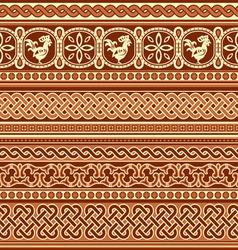 slavic ornament seamless vector image vector image