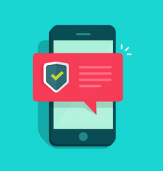 smartphone security flat vector image vector image
