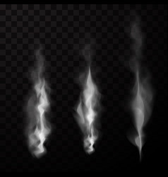 Smoke isolated set vector