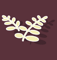 sticker leaves logo template vector image vector image
