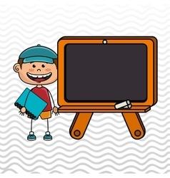 student board chalk school vector image vector image