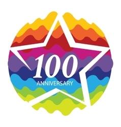 Template Logo 100 Anniversary vector image