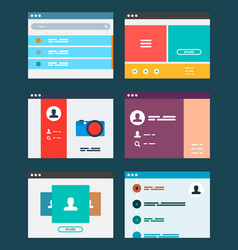 Ui app design concept vector