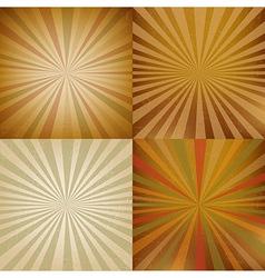 Vintage Sunburst Backgrounds Set vector image