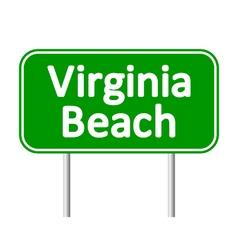 Virginia beach green road sign vector