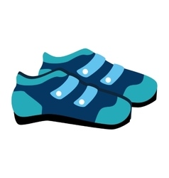 Cyclist shoes wear icon vector