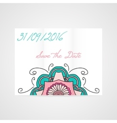 Abstract brochure with floral ornament vector