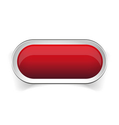 Empty red button vector image