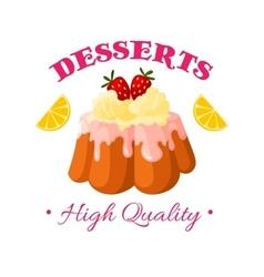 Bakery shop pastry patisserie dessert icon vector