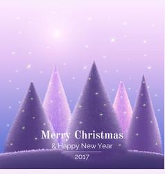 greeting card merry christmas vector image