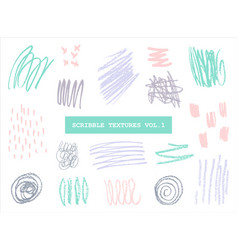 scribble textures collection vector image