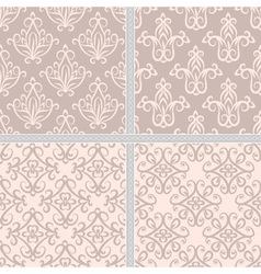 Damask ethnic textile pattern vector