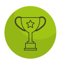 Trophy cup award icon vector