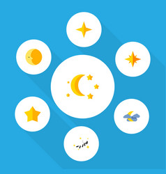 Flat icon midnight set of asterisk star midnight vector