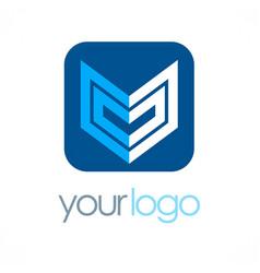 Shape geometry business logo vector