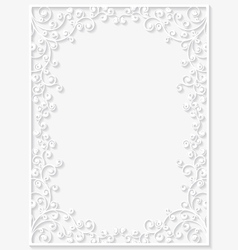 Paper floral frame vector
