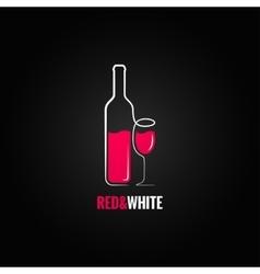 wine bottle glass design background vector image
