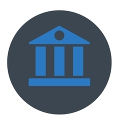 Bank flat smooth blue colors round button vector