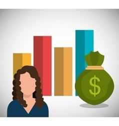 Money and business profits vector