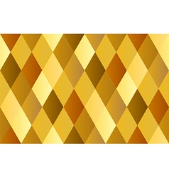 Yellow gold celebrate diamond polygon vector