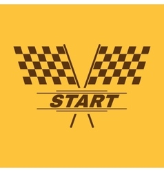 The start icon start symbol flat vector
