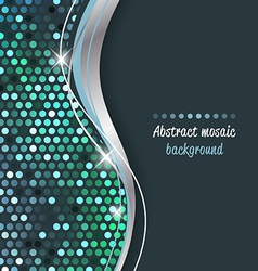 Abstract mosaic background with wave vector