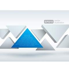 Abstract of 3d triangles vector