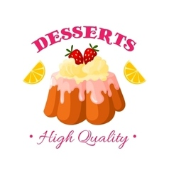Bakery shop pastry patisserie dessert icon vector