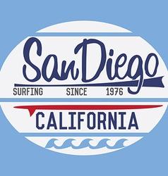 California san diego typography t-shirt printing vector