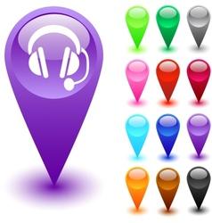 Call center button vector image vector image