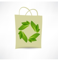 creative eco bag icon vector image vector image