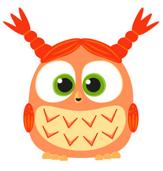 cute baby girl owl colorful poster vector image