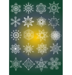 Decorative Snowflakes set vector image vector image