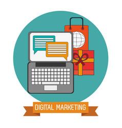 Digital marketing online target objetive vector