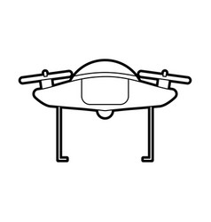 Drone flying technology with camera vector