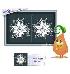 game find 9 differences flower vector image vector image