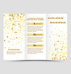 Gold sparkles on white background banners golden vector