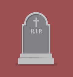 graveyard flat style icon vector image