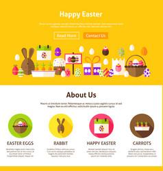 happy easter web design vector image