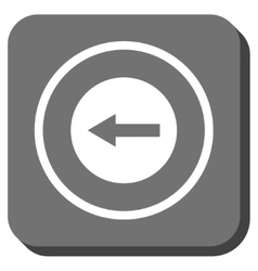 Left rounded arrow rounded square icon vector