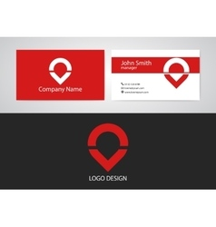 logo and business card vector image vector image