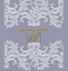luxury card with ornaments beautiful vector image vector image