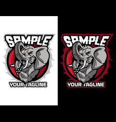 Modern animal mascot for esport logo and t-shirt vector