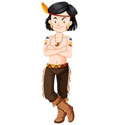 Native American Indian boy vector image vector image
