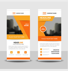 Orange abstract business rollup banner flat design vector