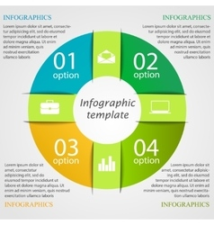 Pie chart infographic template vector image vector image