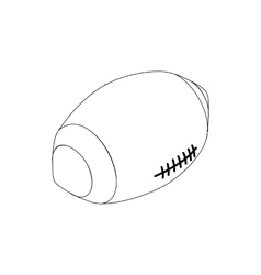 Rugby ball icon isometric 3d style vector image