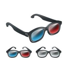 Set of 3d glasses vector