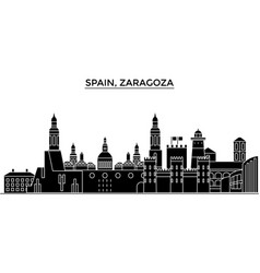 spain zaragoza architecture city skyline vector image vector image
